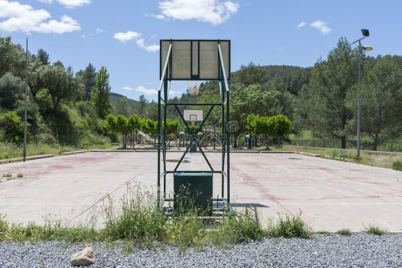 Basketbal court royalty-vrije stock foto's