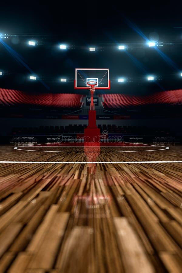 Basketbal court De arena van de sport stock illustratie
