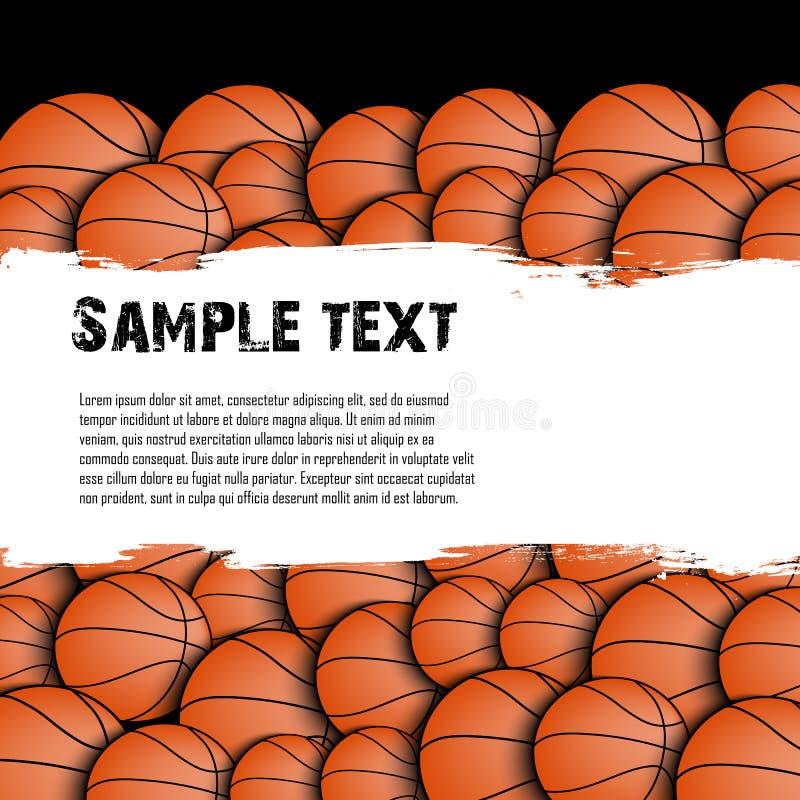 Basketbal grunge achtergrond stock illustratie