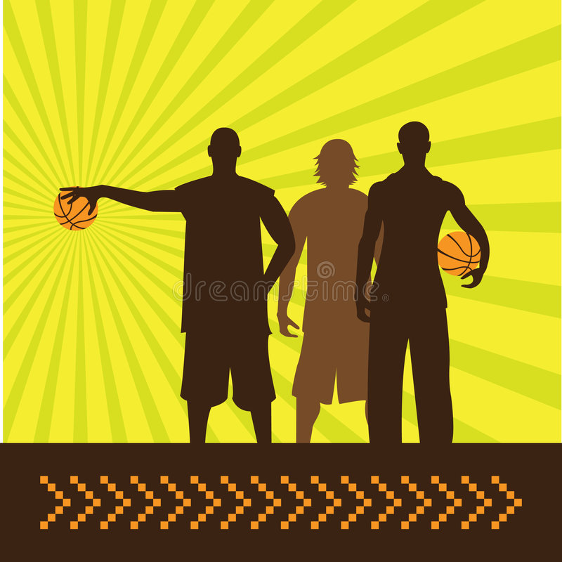 Basketbal_guys illustrazione vettoriale