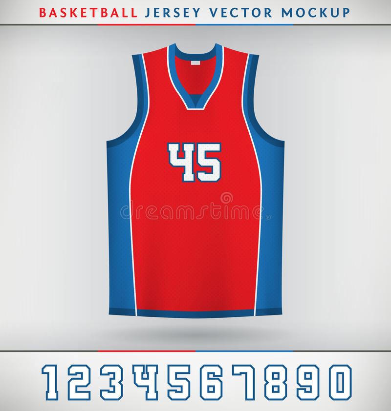 Basketbal Jersey stock illustratie