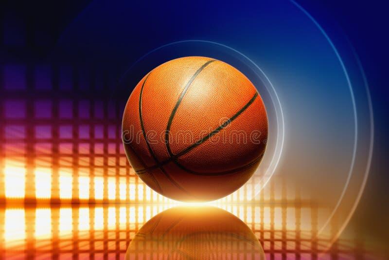 Basketbal met bezinning vector illustratie