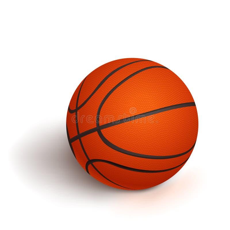 Basketbal met schaduw vector illustratie