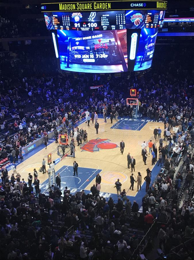 Basketbal in New York stock foto's