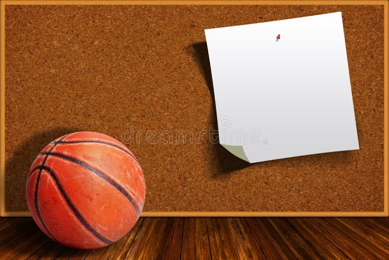 Basketbal op een Achtergrond Cork Board With Copy Space royalty-vrije illustratie