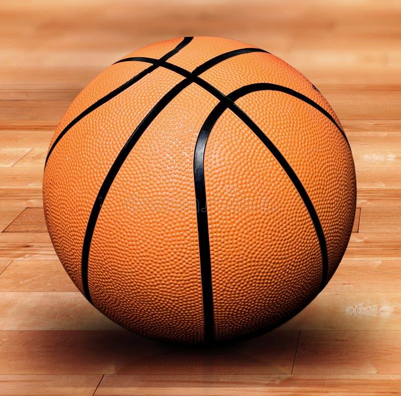 Basketbal op een hof stock illustratie