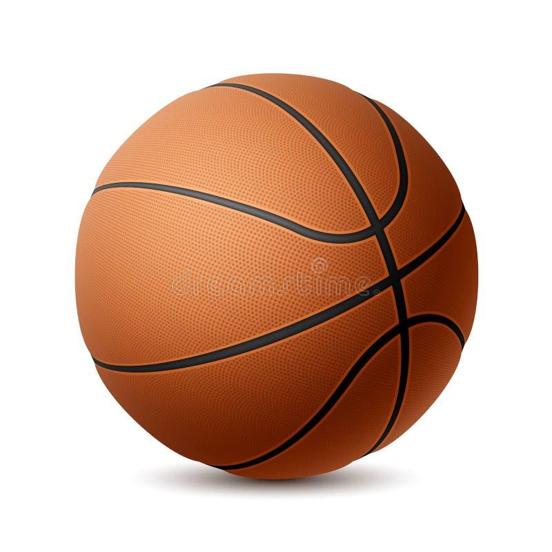 Basketbal op wit vector illustratie