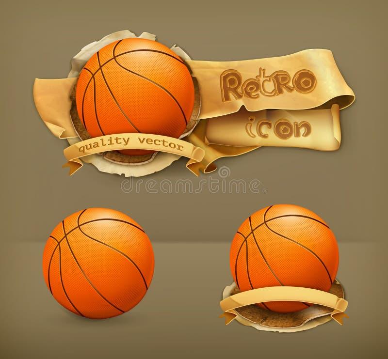 Basketbal vectorpictogrammen stock illustratie