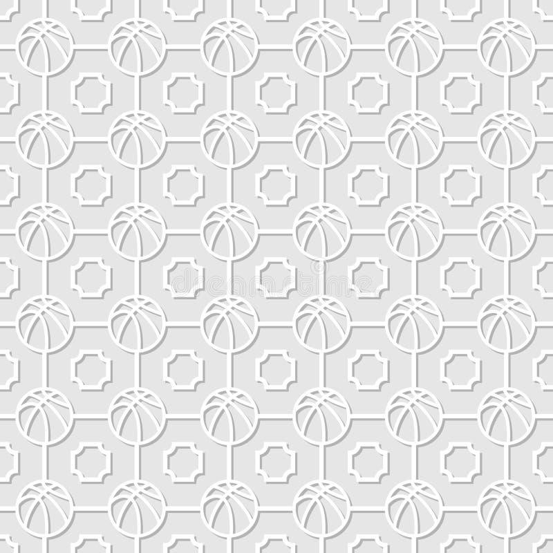 Basketbal witte achtergrond vector illustratie