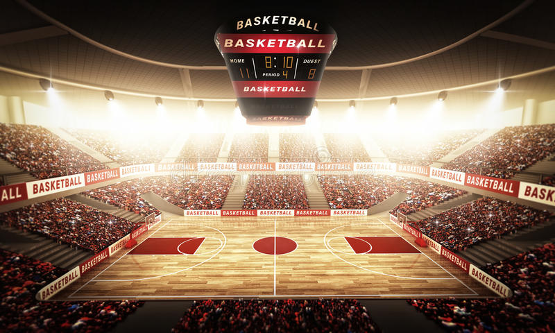 Basketbalarena vector illustratie
