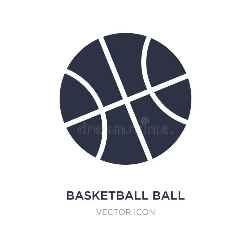 basketbalbal met lijnpictogram op witte achtergrond Eenvoudige elementenillustratie van Sportenconcept royalty-vrije illustratie