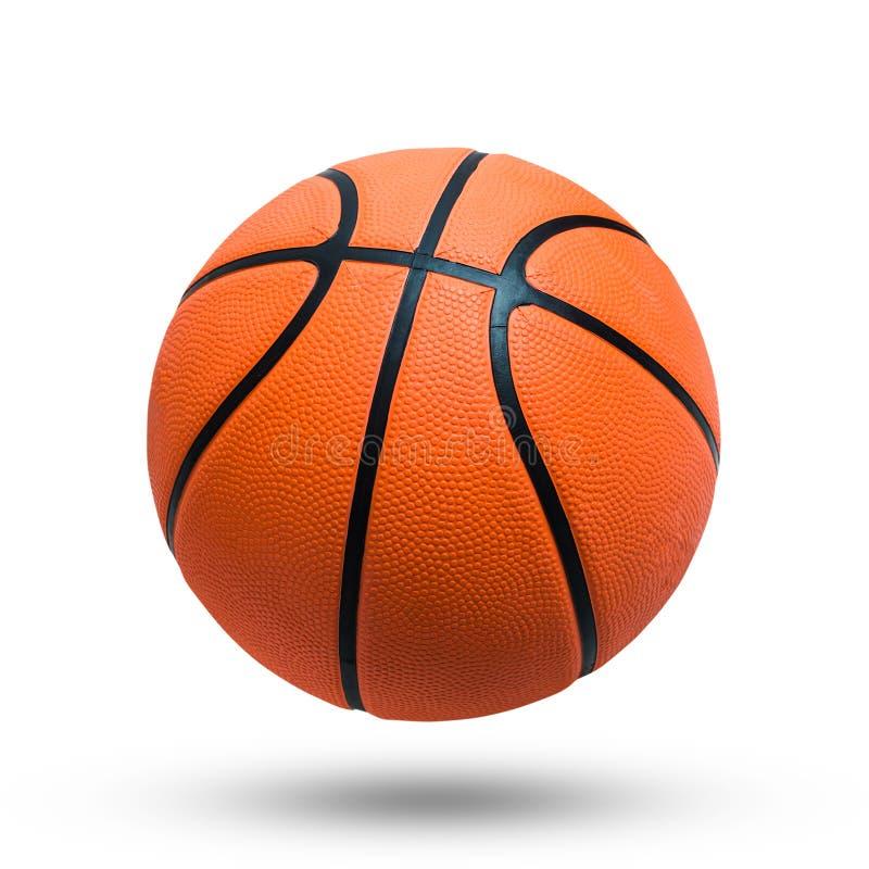 Basketbalbal over witte achtergrond royalty-vrije stock foto