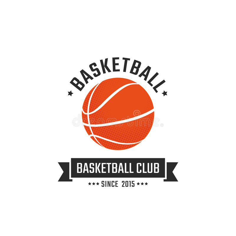 Basketbalclub royalty-vrije illustratie