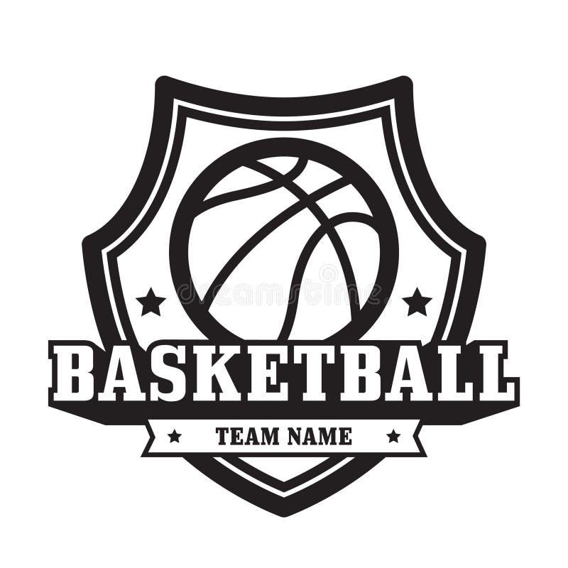 Basketbalembleem stock afbeelding