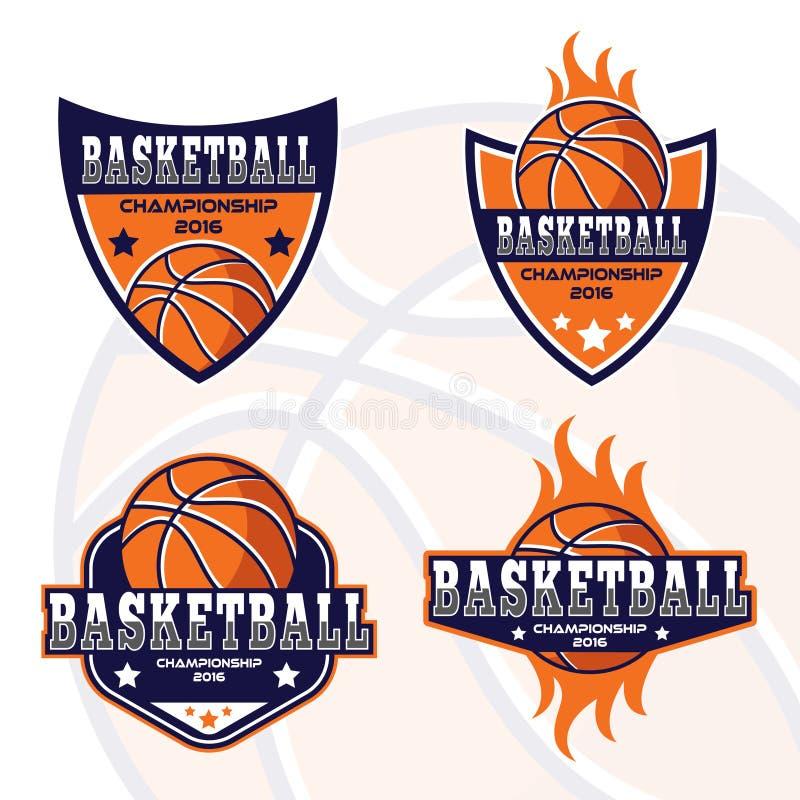 Basketbalembleem, het embleem van Amerika stock illustratie