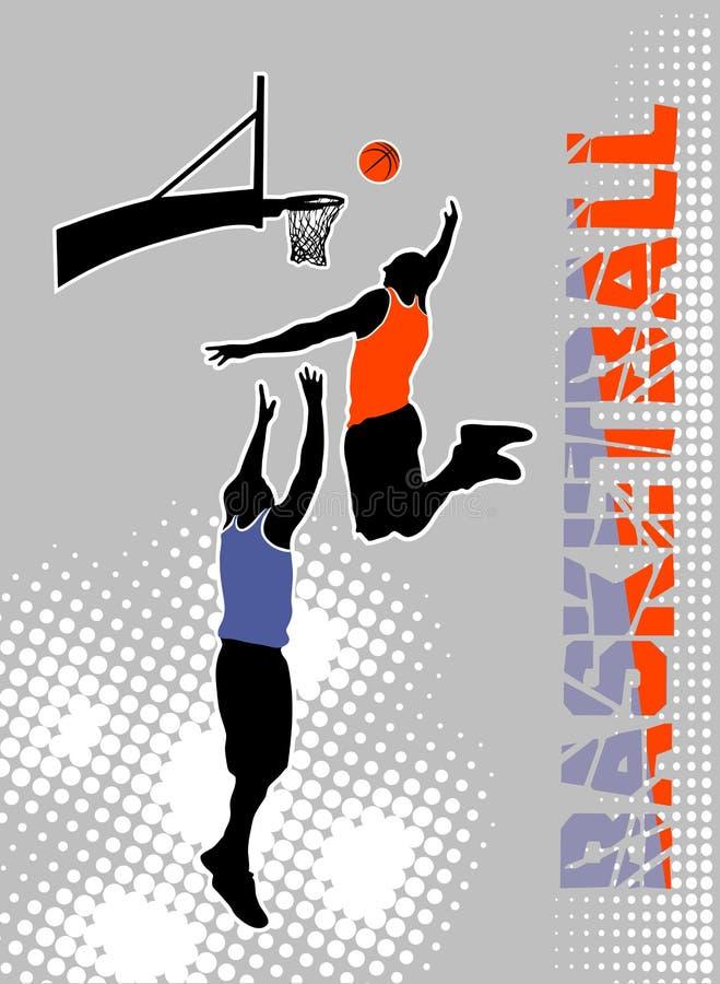 Basketbalgelijke op grungeachtergrond vector illustratie