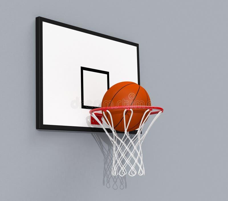 Basketbalhoepel vector illustratie