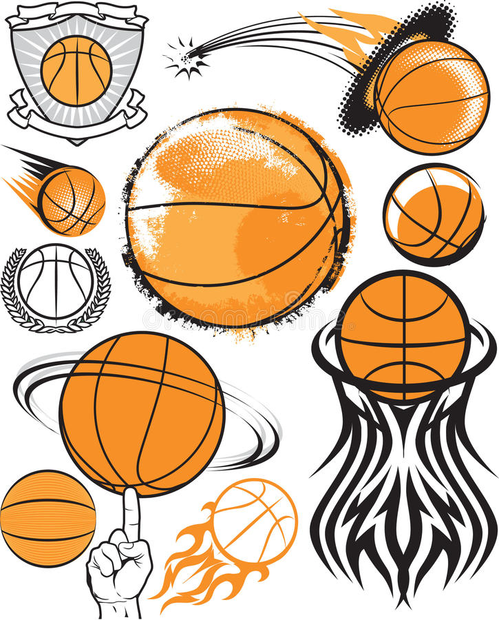 Basketbalinzameling vector illustratie