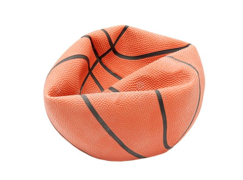 Basketball. Broken basketball isolated on white background royalty free stock image
