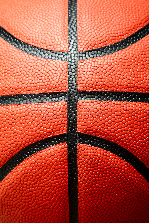 Basketball. A closeup (macro) shot of a basketball royalty free stock images