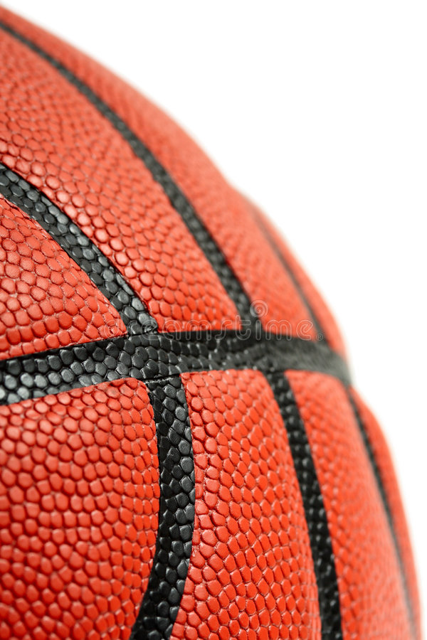Basketball. A closeup shot of a basketball with copyspace stock image