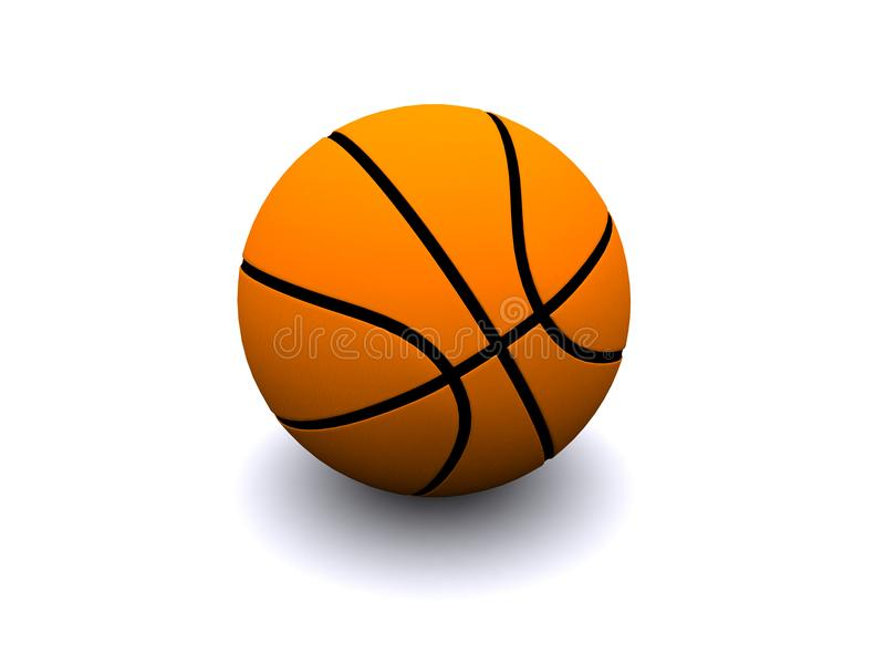 Basketball. The realistic image of a basketball ball. 3D render