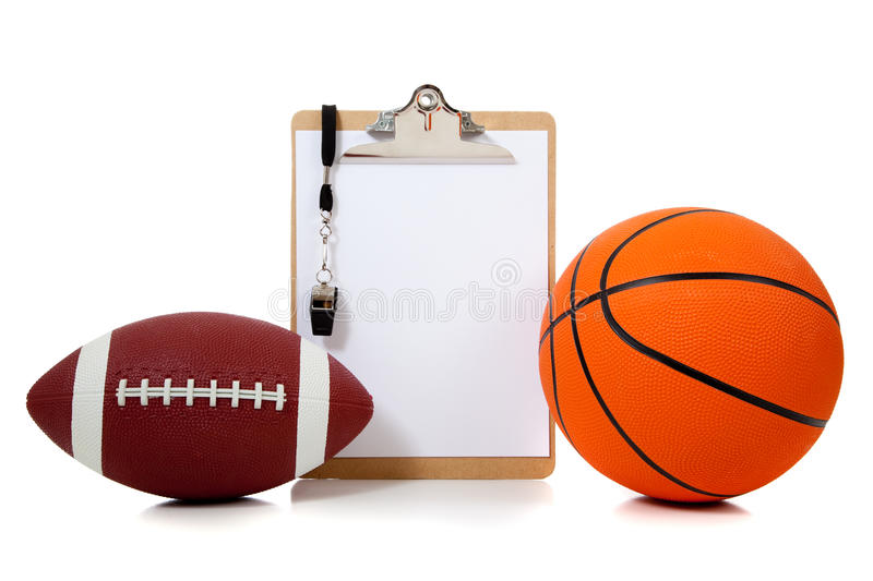 Basketball and American football oard royalty free stock photos