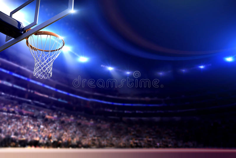 Basketball arena royalty free stock photography