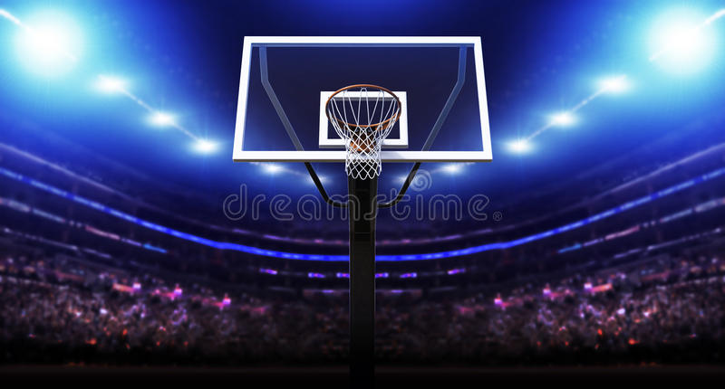 Basketball arena vector illustration