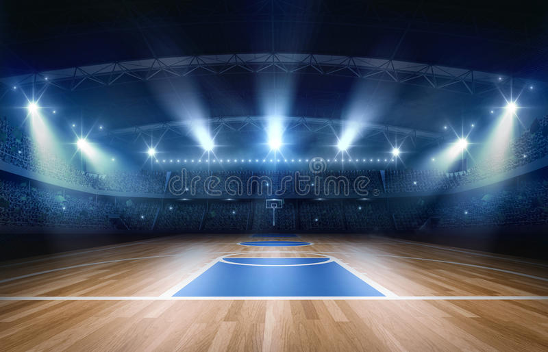 Basketball arena,3d rendering royalty free illustration