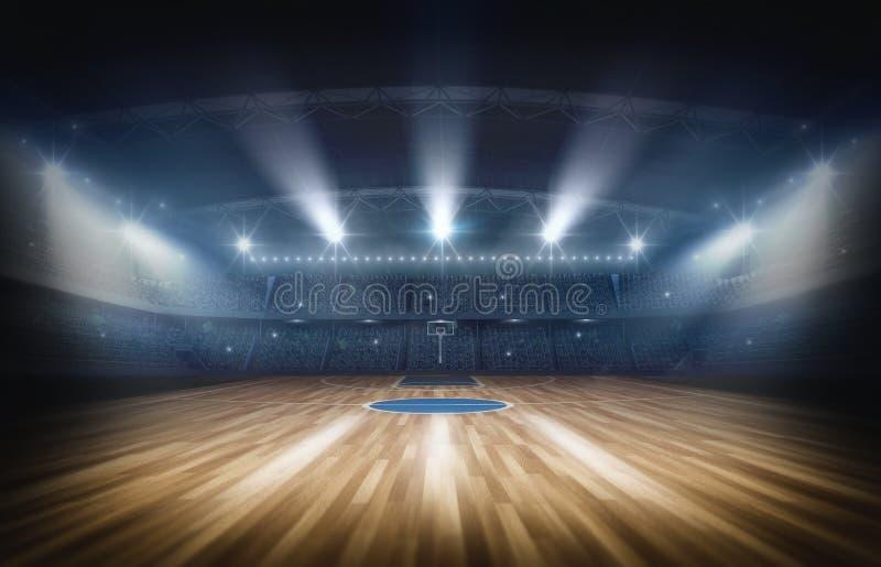 Basketball arena,3d rendering royalty free illustration