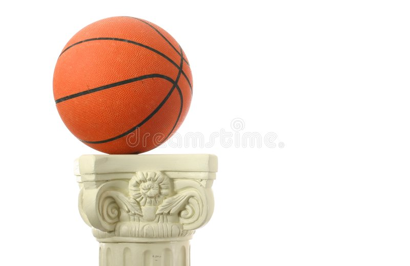 Basketball auf Bedienpult III stockbild