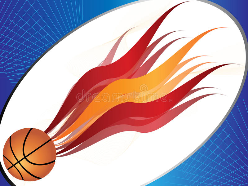 Download Basketball background stock vector. Illustration of burning - 10481759