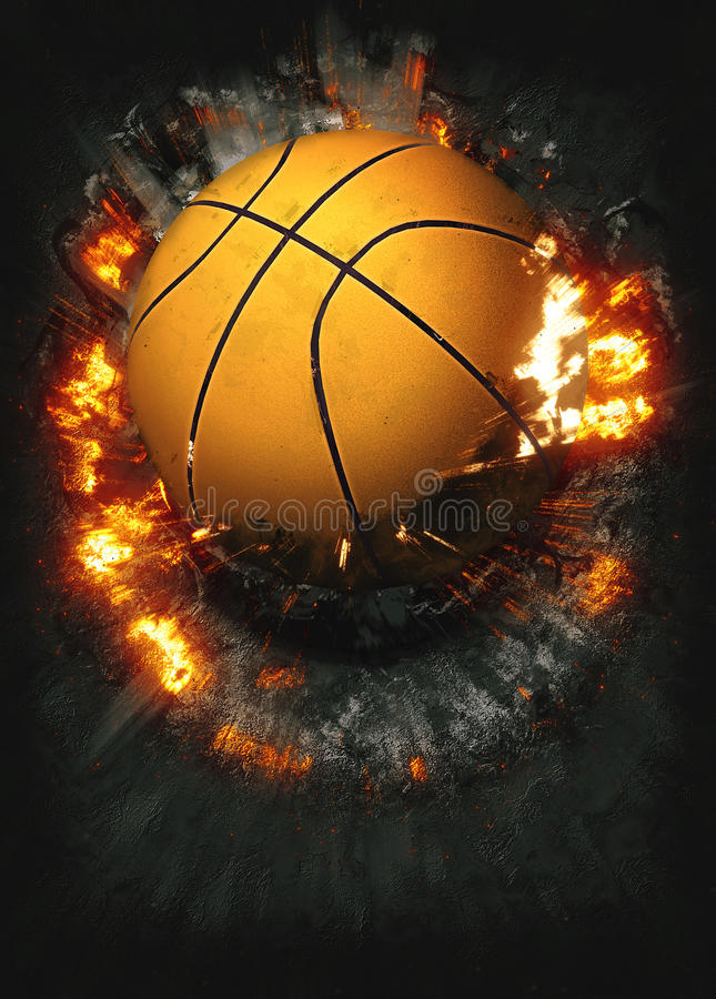 Free Basketball Background Royalty Free Stock Photography - 55134937