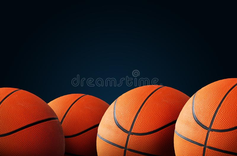 Basketball background with copy space royalty free stock photography