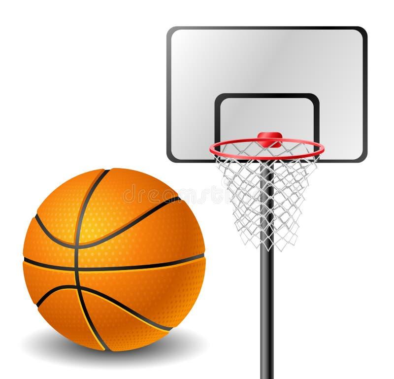 Free Basketball Ball And Basket Royalty Free Stock Photos - 33046028