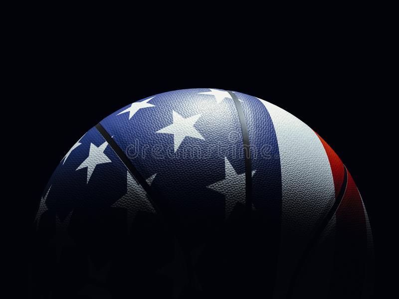 Basketball Ball Colored Like United States Flag Wallpaper Stock