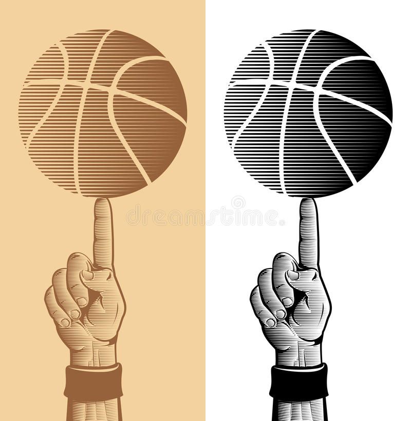 Download Basketball Ball On The Finger 2 Stock Vector - Image: 19676634