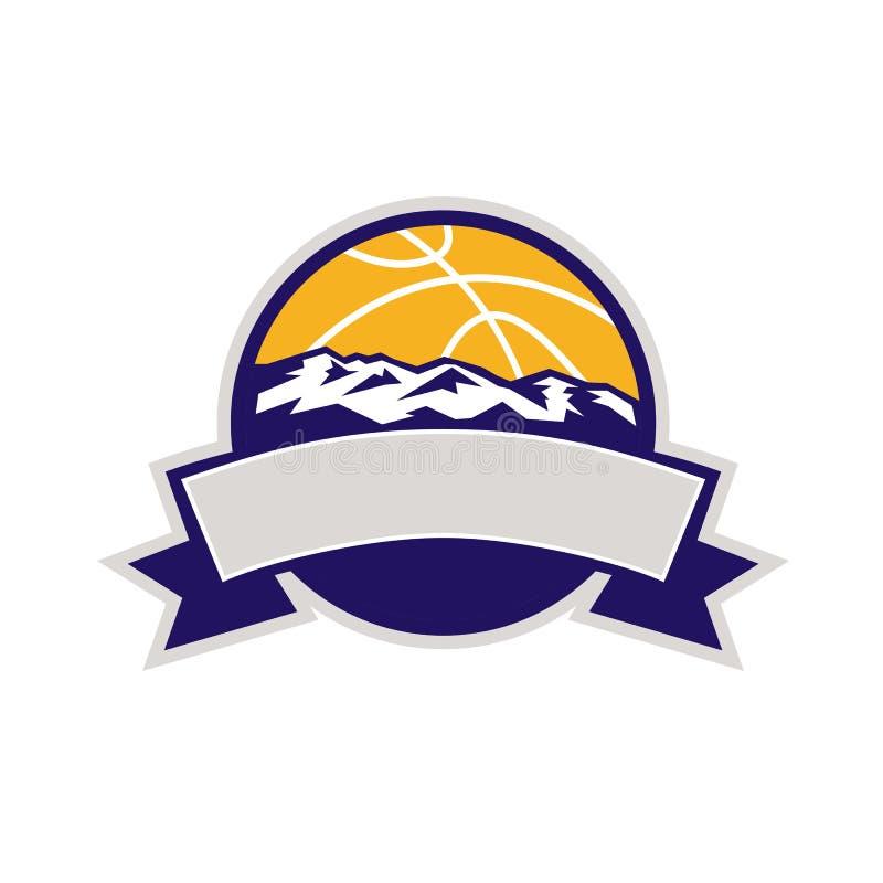 Basketball-Ball-Gebirgsrolle lizenzfreie abbildung