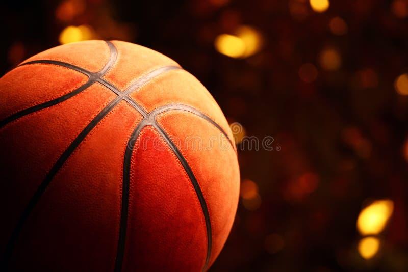 Basketball ball gold bokeh royalty free stock photography