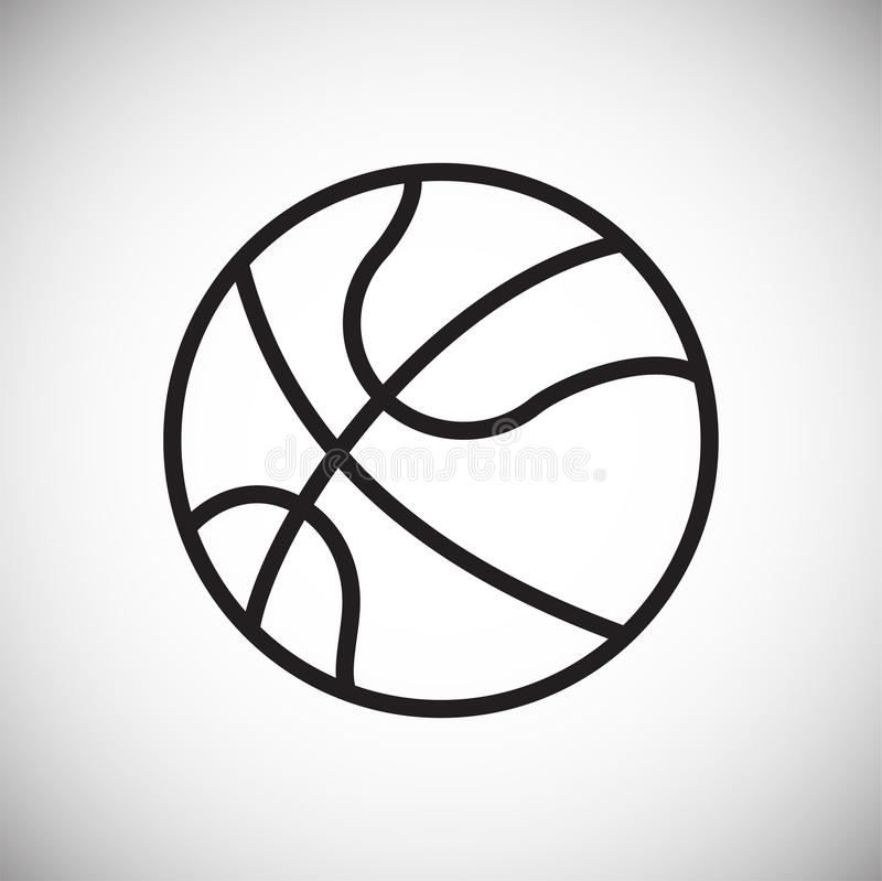 Basketball ball icon on white background for graphic and web design, Modern simple vector sign. Internet concept. Trendy symbol vector illustration
