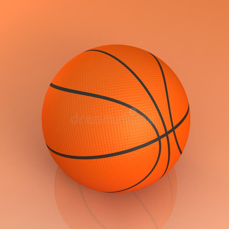 Basketball ball isolated royalty free stock photos