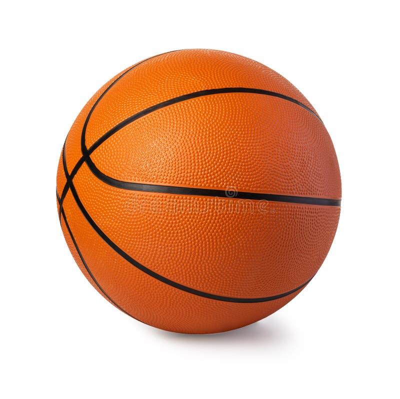 Basketball ball. Isolated on white stock image