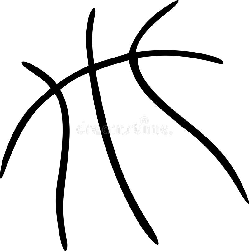Basketball-Ball-Linien vektor abbildung