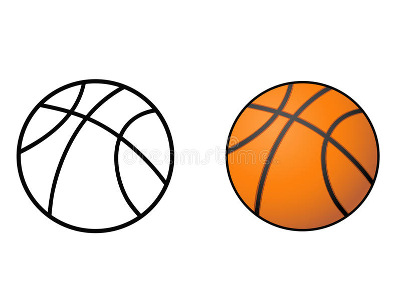 Basketball, ball outline vector royalty free illustration