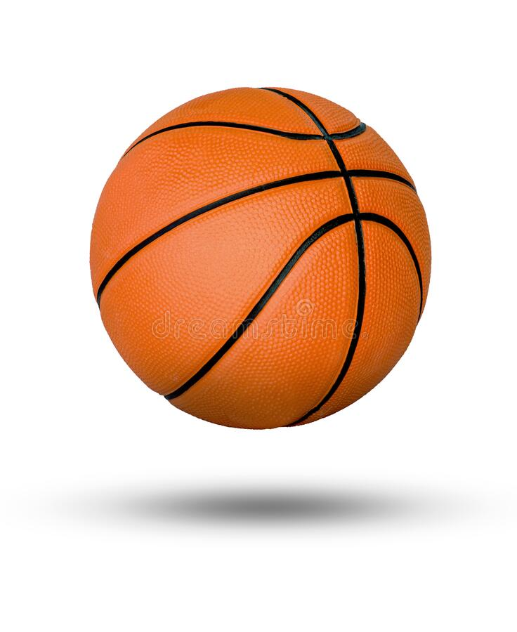 Free Basketball Ball Over White Background Royalty Free Stock Photography - 181494767