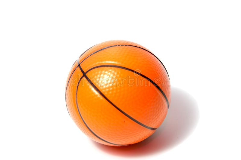 Basketball ball over white background. Basketball isolate.d. orange color Basketball. single Basketball stock image