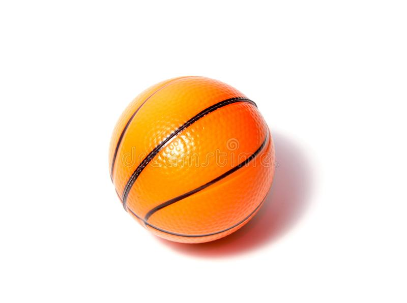 Basketball ball over white background. Basketball isolated. orange color Basketball. single Basketball royalty free stock photo