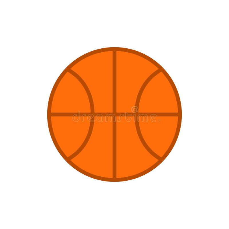 Basketball ball. Vector icon of basketball ball isolated on white background. Flat vector stock illustration