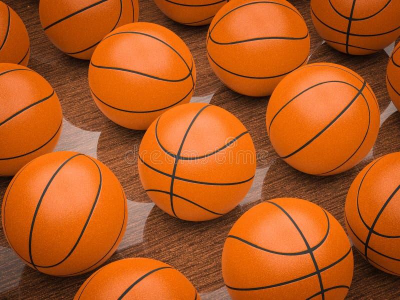 Basketball balls stock photography